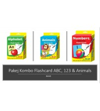 Kombo Flashcard with whiteboard markers ABC,123,animals