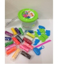 COLOURFUL PLAYDOUGH DENGAN 10 AKSESORI